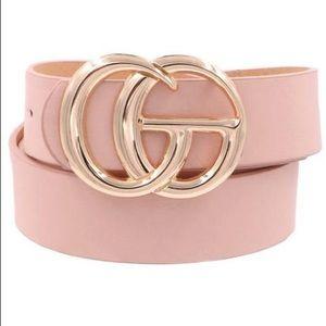 No Distractions GG Vegan Leather Belt